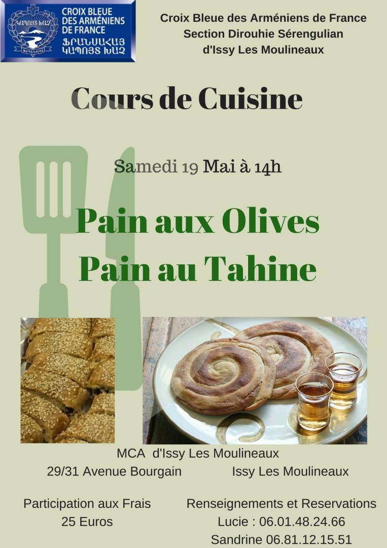 La Maison Bleue Issy Les Moulineaux cours de cuisine à issy-les-moulineaux le samedi 19 mai